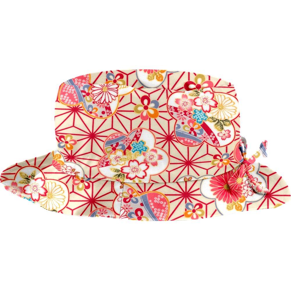 Rain hat adjustable-size T3 flowers origamis