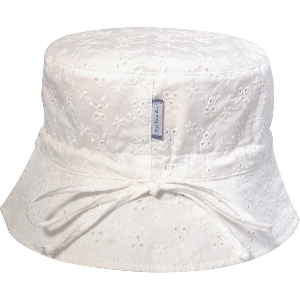 Chapeau de soleil enfant broderie anglaise