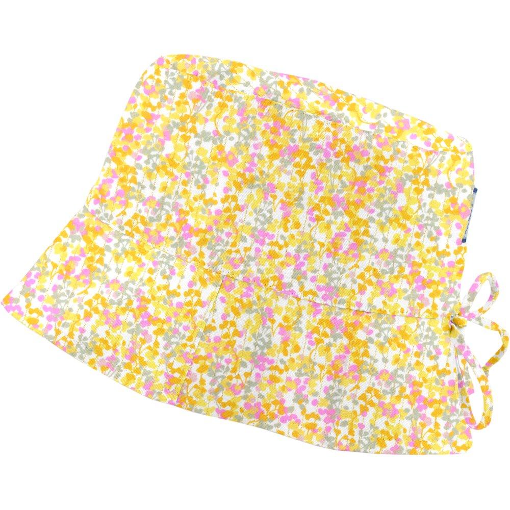 Sun hat adjustable-size T2 mimosa jaune rose