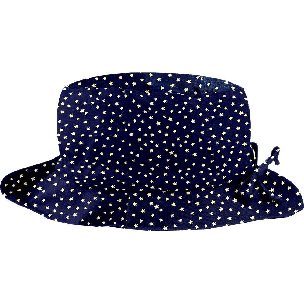 Rain hat adjustable-size 2  navy gold star