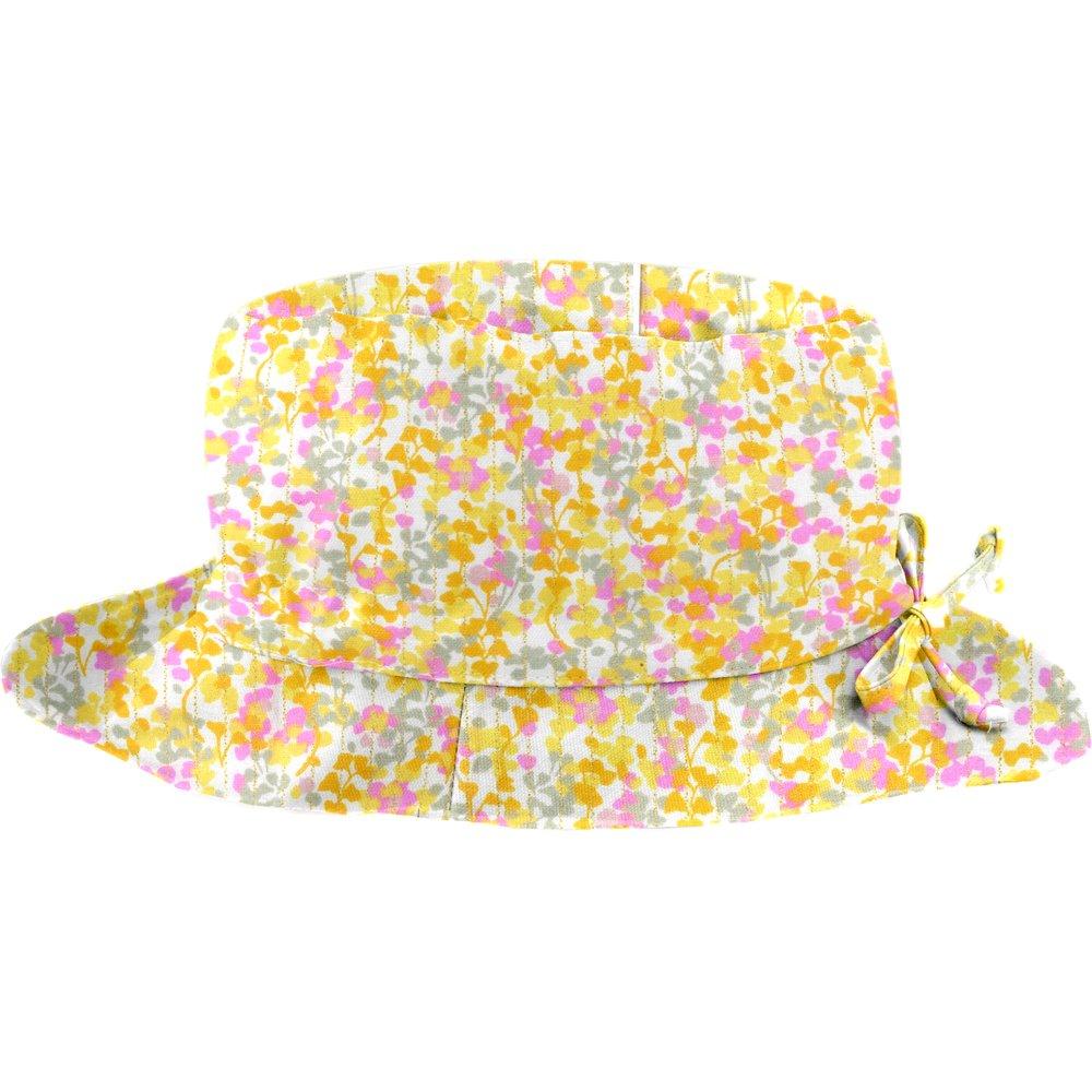Rain hat adjustable-size 2  mimosa jaune rose