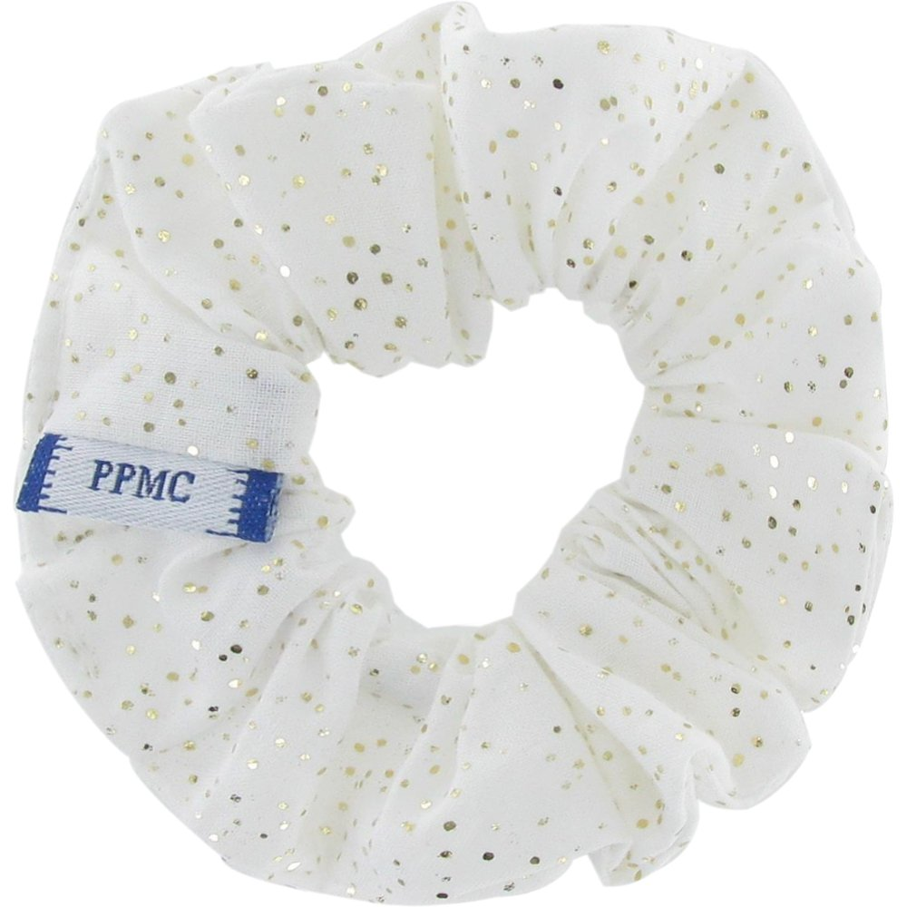 Small scrunchie white sequined