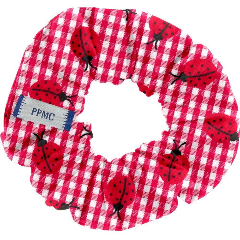 Mini coleteros cuadros vichy rojo y mariquitas