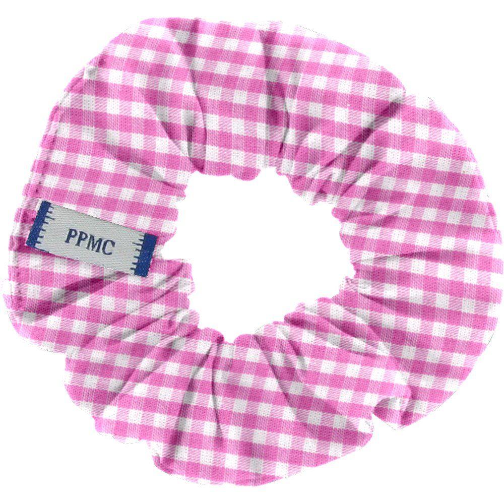 Small scrunchie fuschia gingham