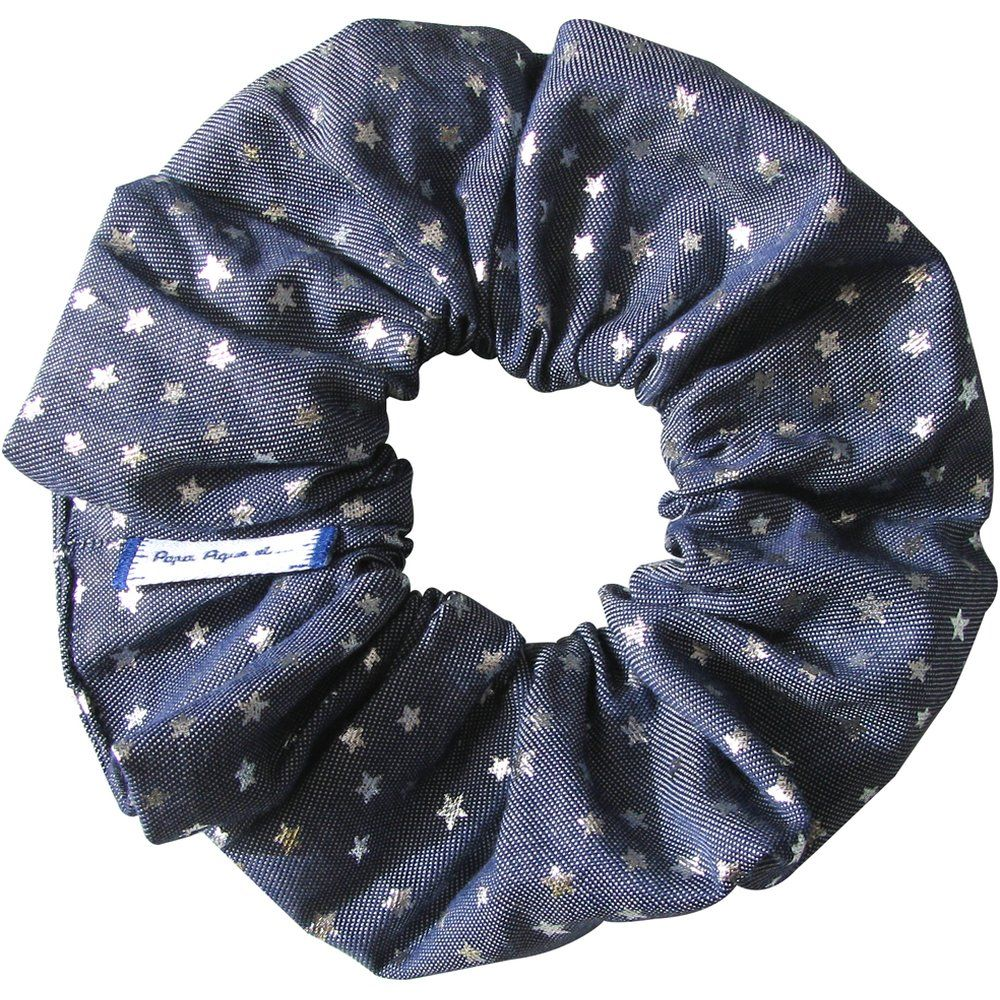 Scrunchie silver star jeans