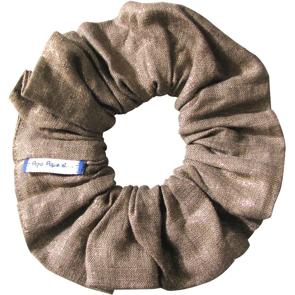 Scrunchie gold linen