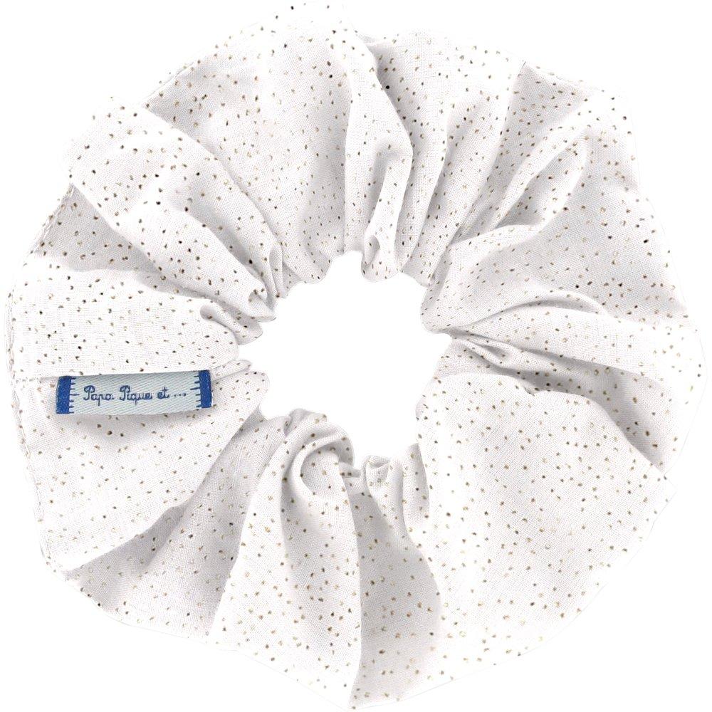 Chouchou  blanc pailleté