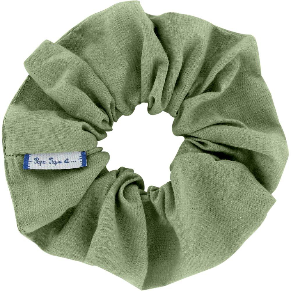 Chouchou gaze vert sauge