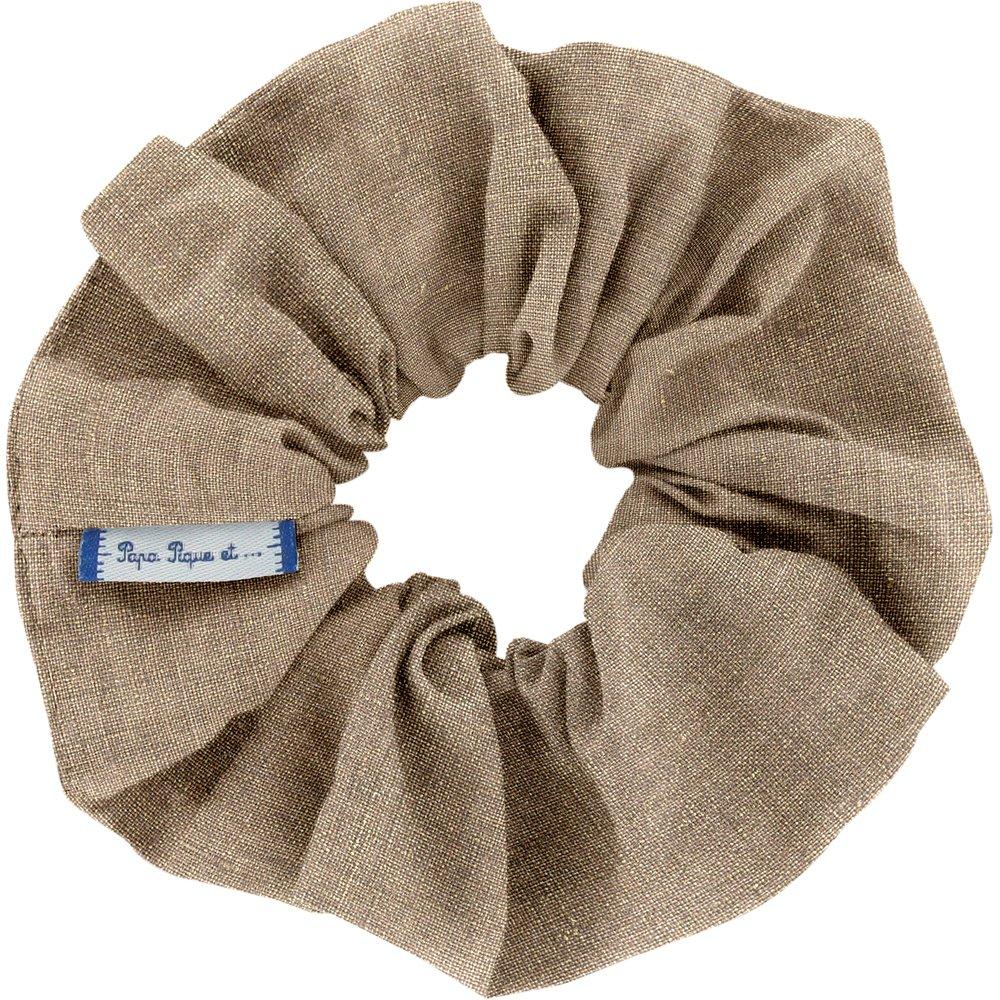 Scrunchie copper linen