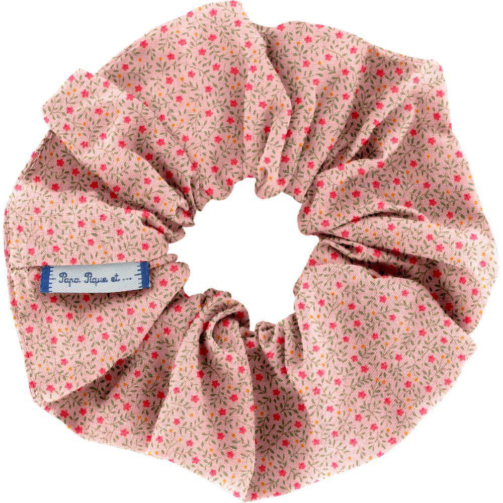 Scrunchie mini pink flower