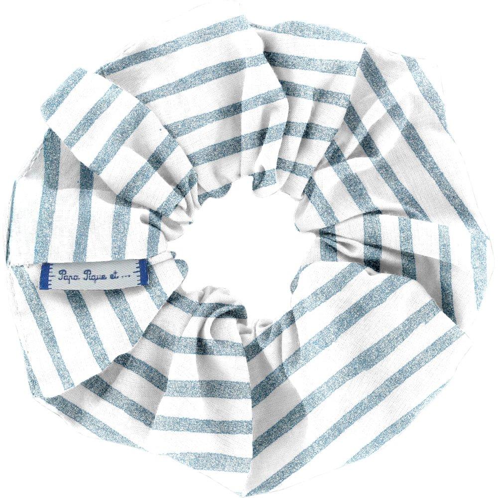 Chouchou rayé bleu blanc