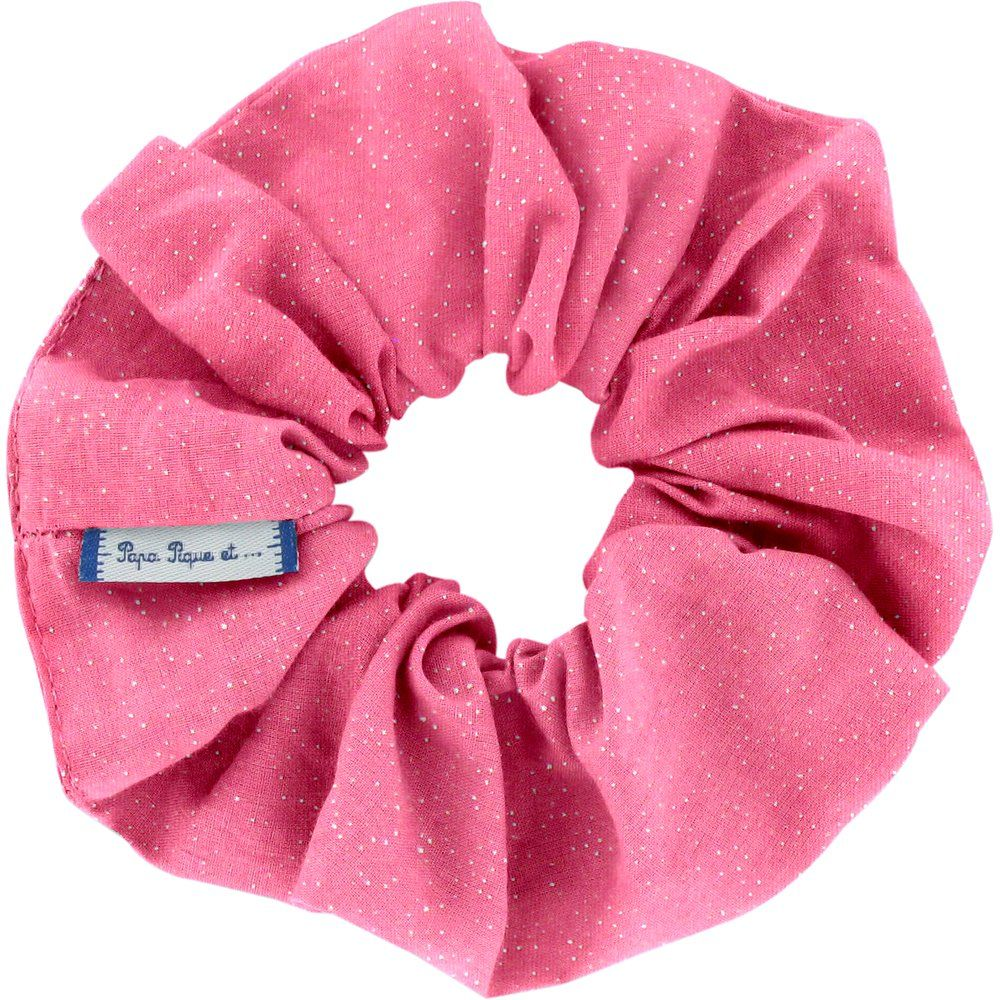 Scrunchie rose pailleté