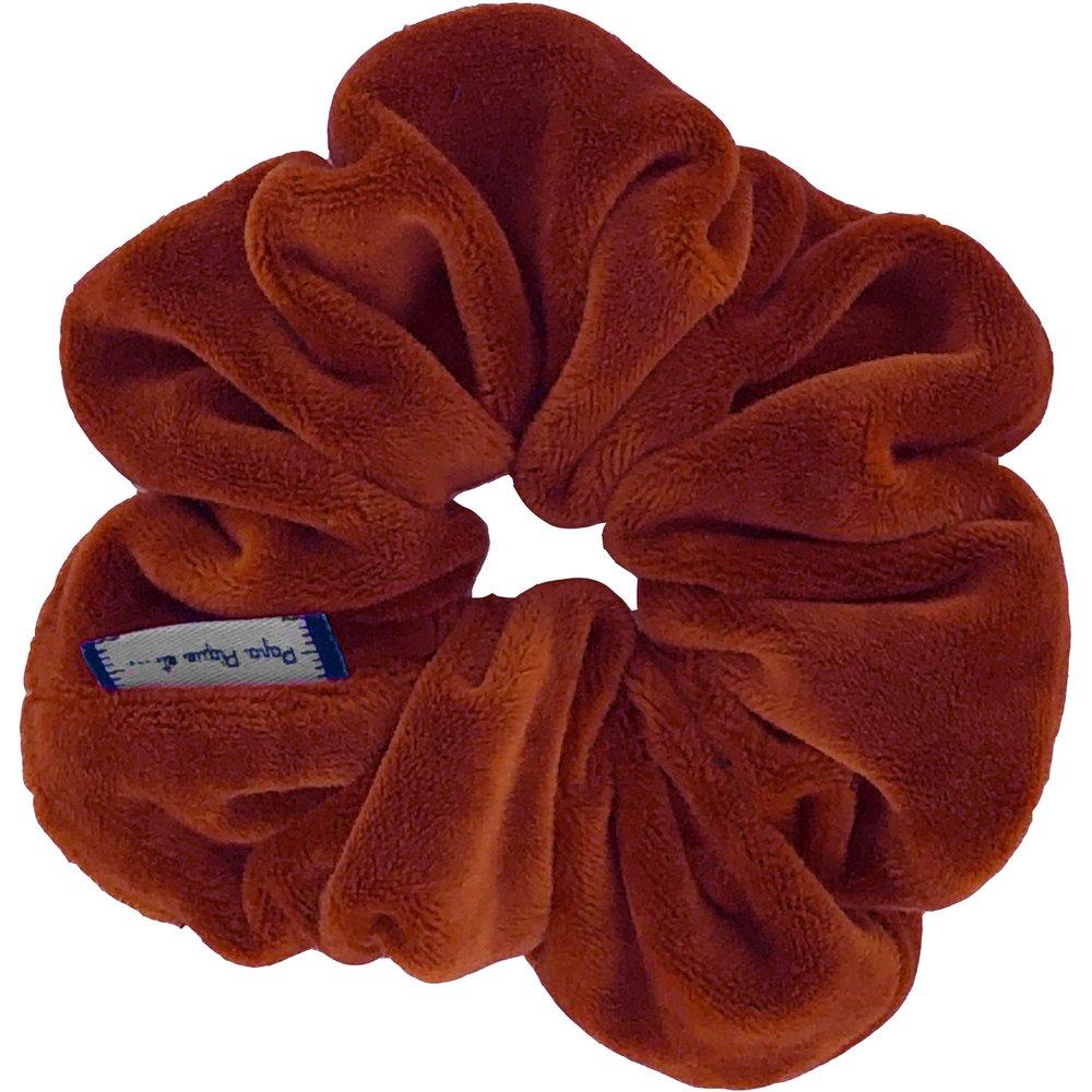 Scrunchie terracotta velvet