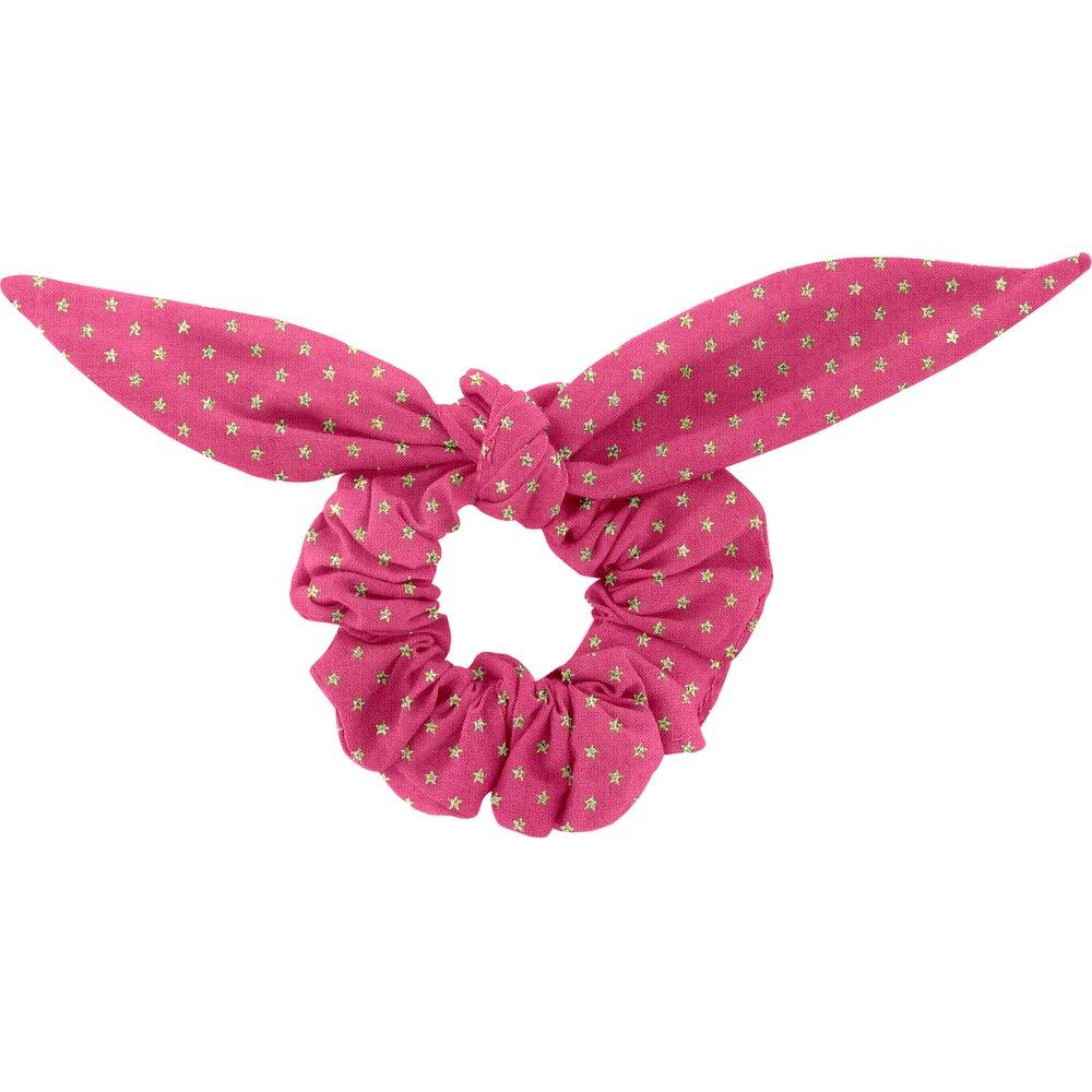 Bunny ear Scrunchie etoile or fuchsia