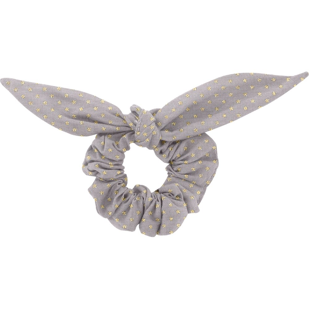 Bunny ear Scrunchie etoile or gris