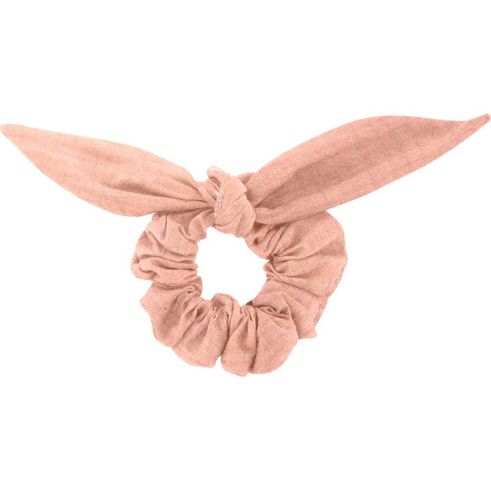 Chouchou nœud  gaze rose