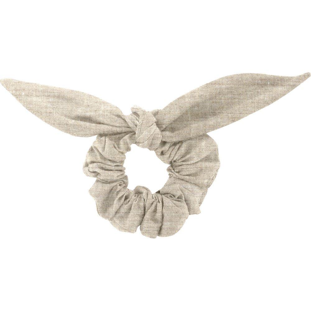 Chouchou nœud   lin pailleté