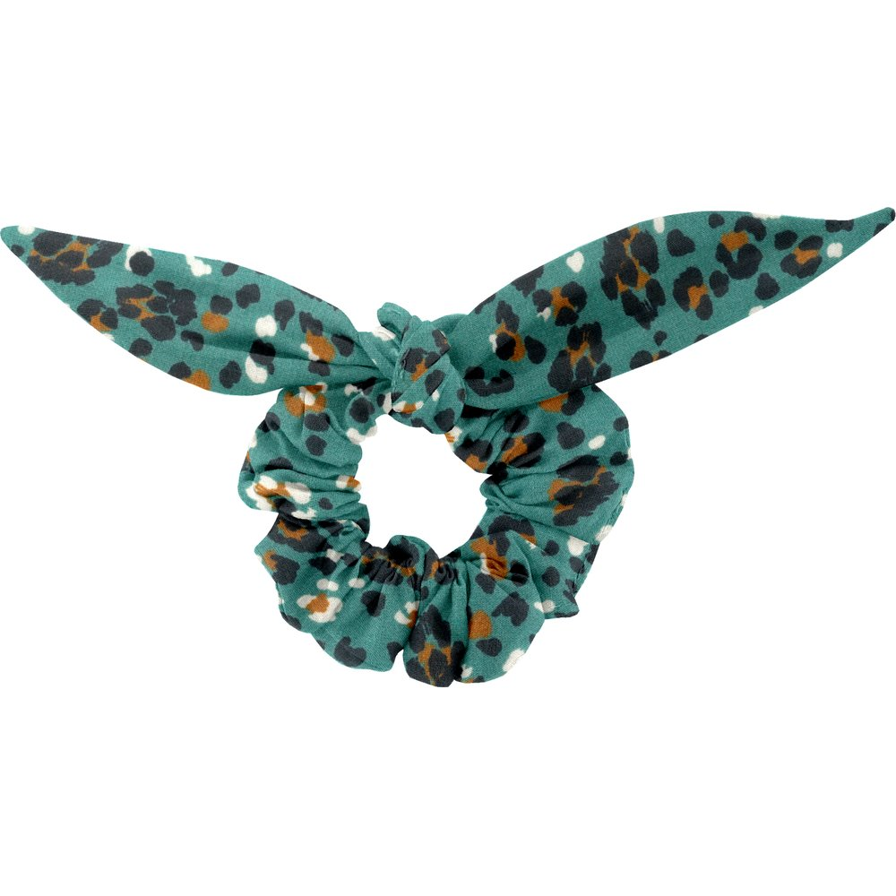 Chouchou nœud  panthère jade