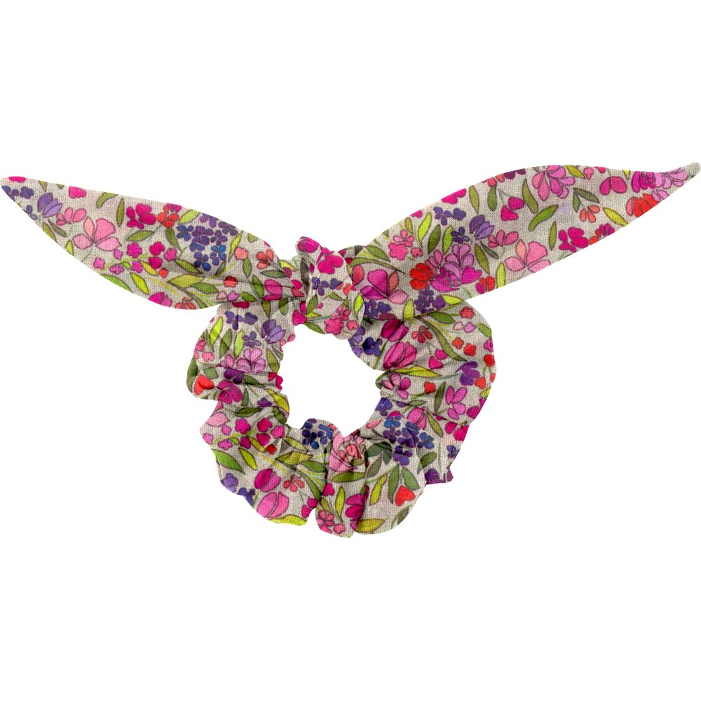 Bunny ear Scrunchie purple meadow
