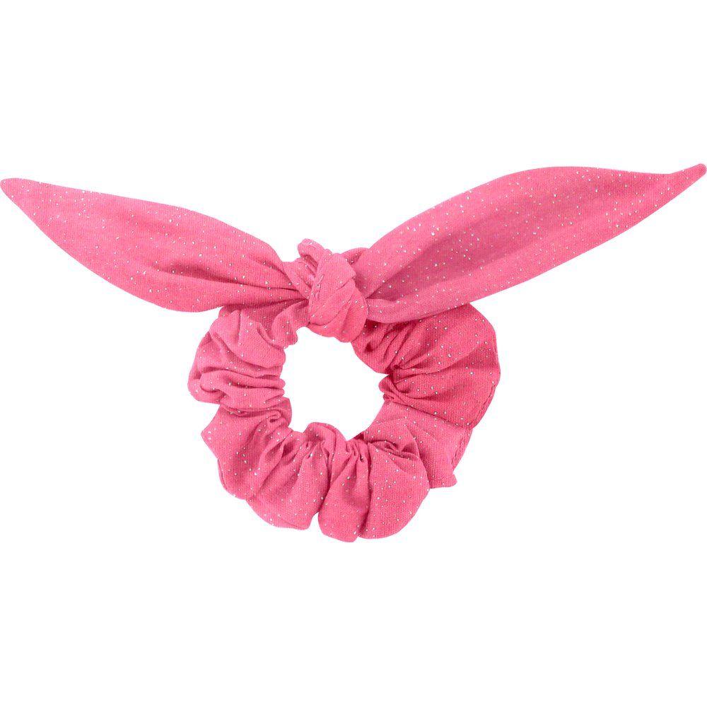 Chouchou nœud  rose pailleté