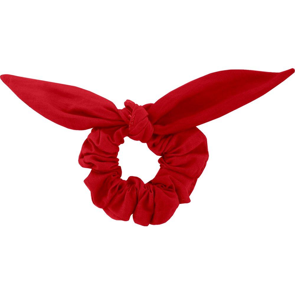 Bunny ear Scrunchie red