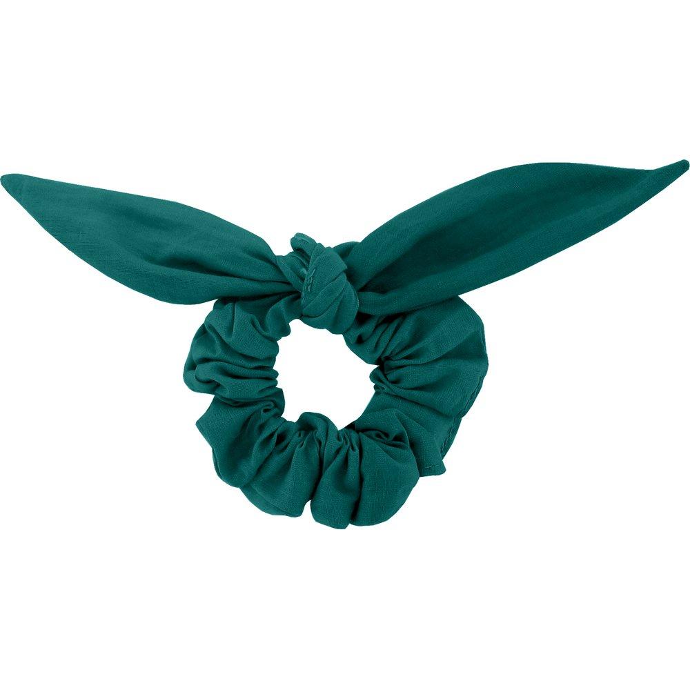 Chouchou nœud   vert émeraude