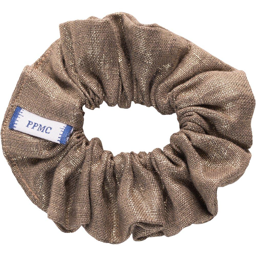 Small scrunchie copper linen