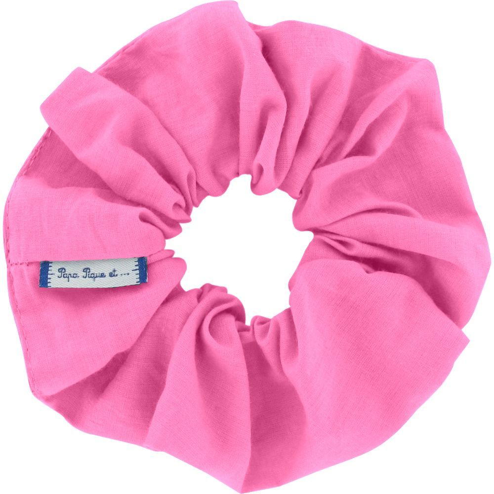 Scrunchie pink - light cotton canvas