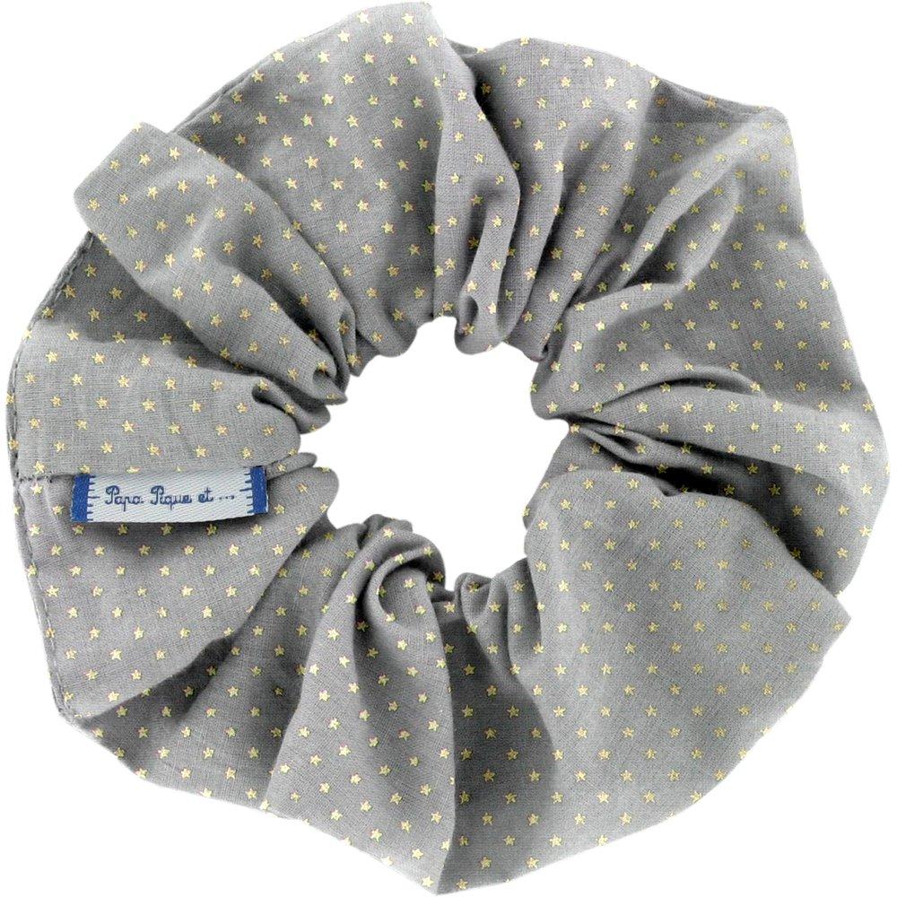Scrunchie etoile or gris
