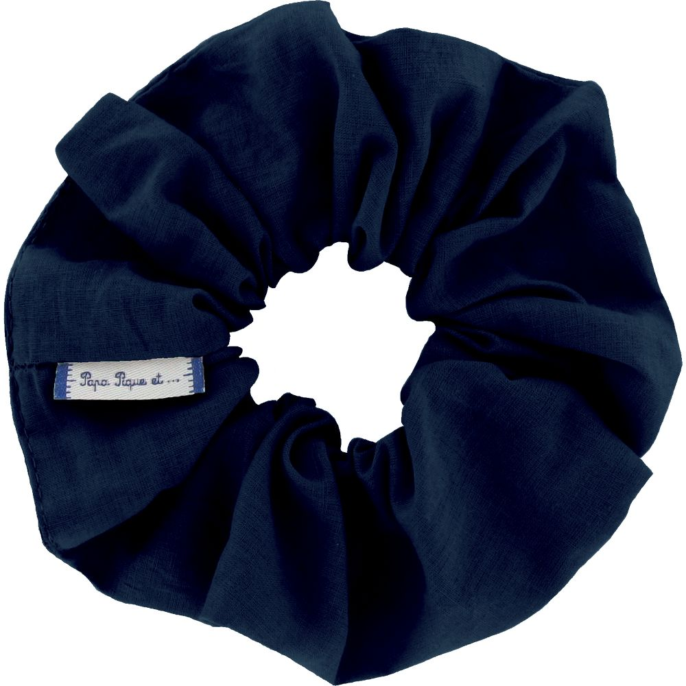 Scrunchie navy blue