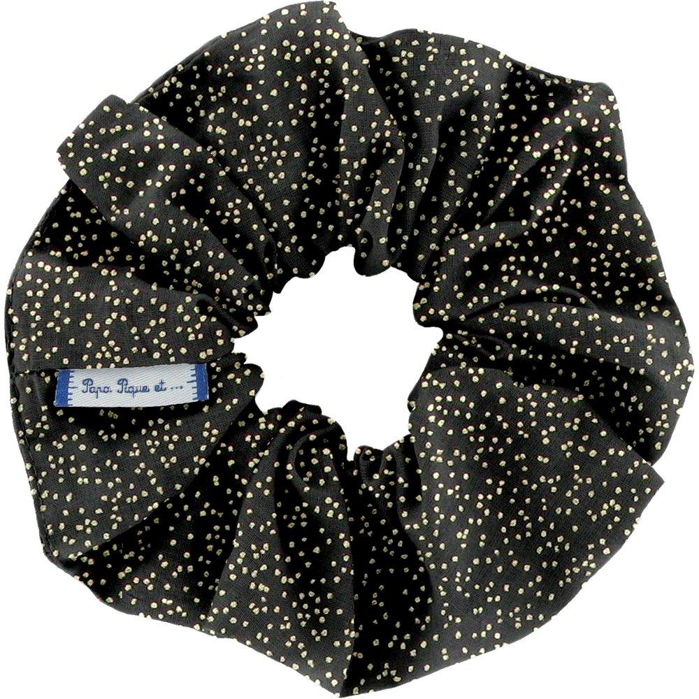 Chouchou noir pailleté