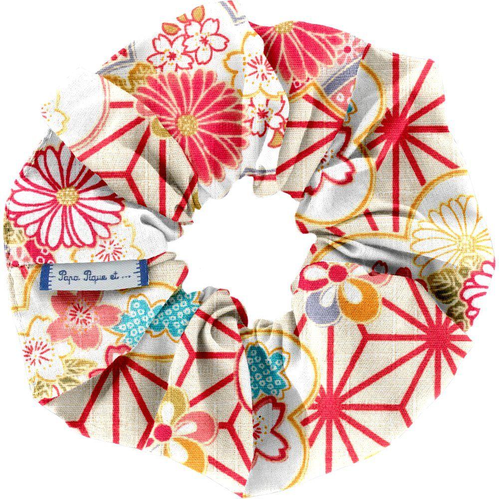 Chouchou  origamis fleuris