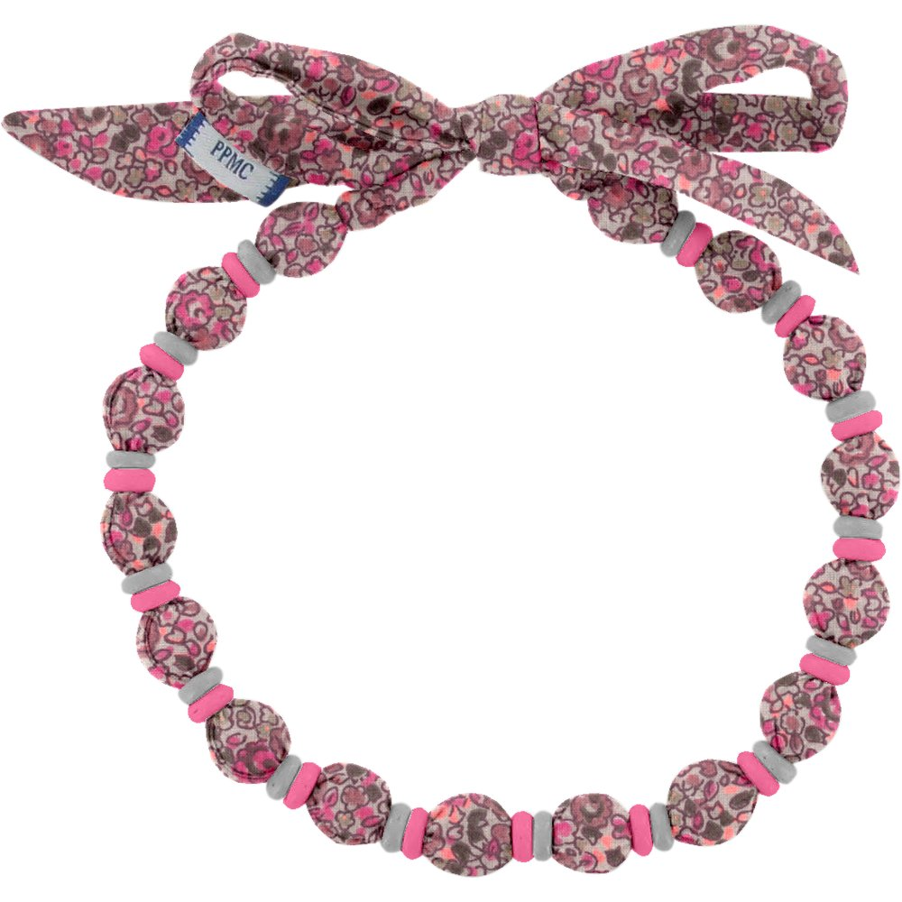 Collier coco lichen prune rose