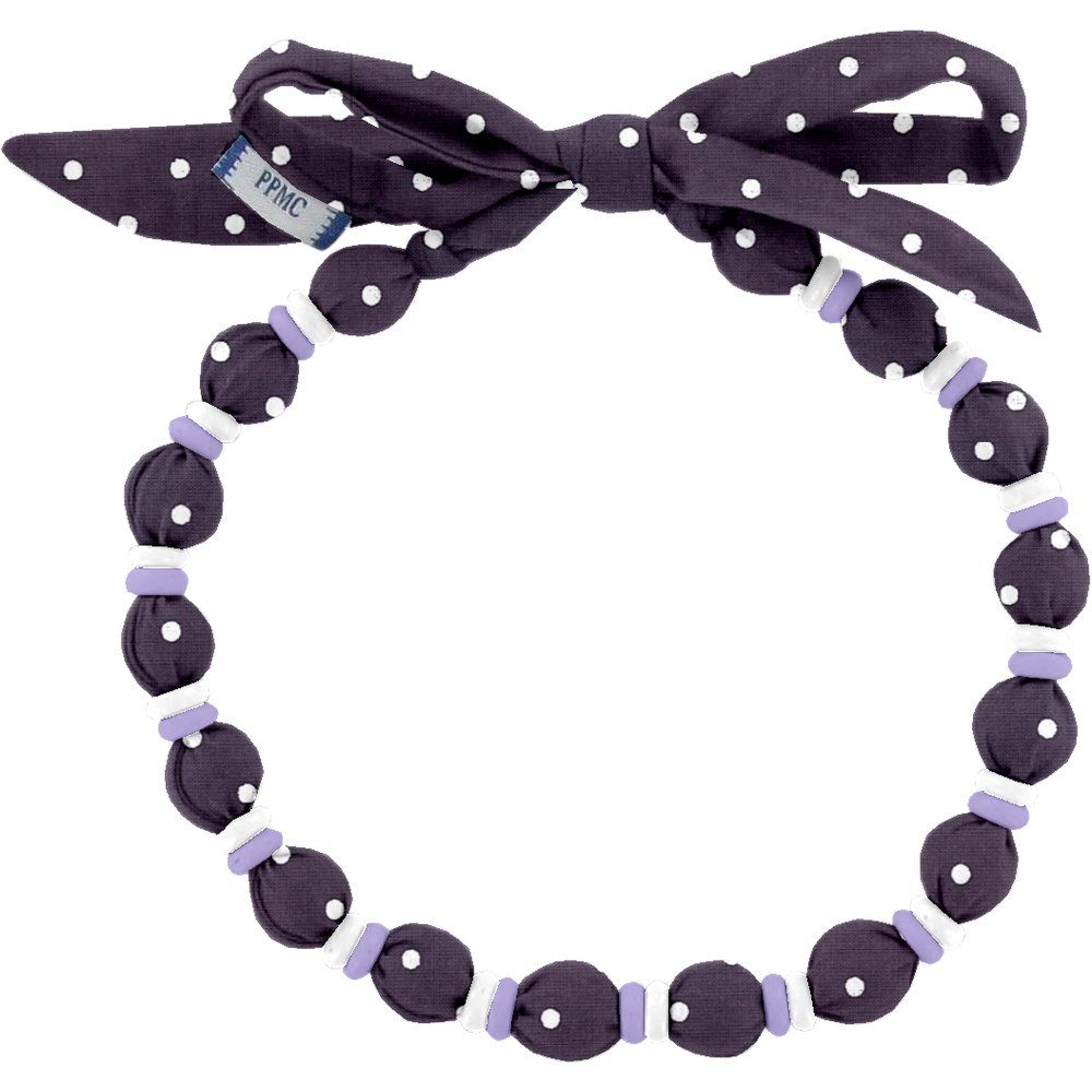 Collier coco pois prune