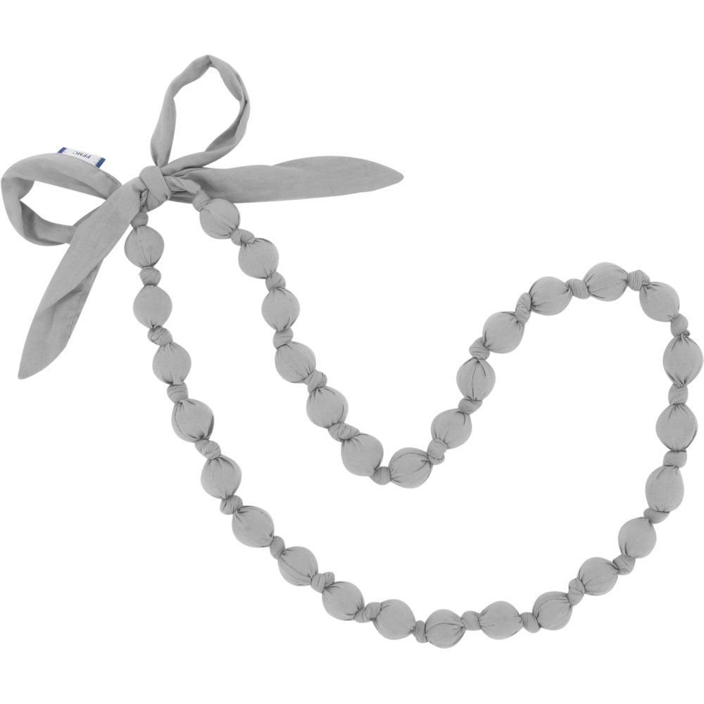Fabric necklace grey