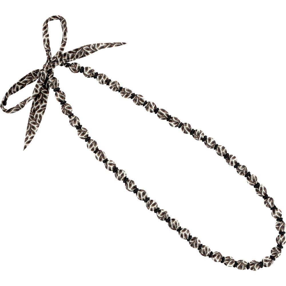 Collier sautoir perles feuillage