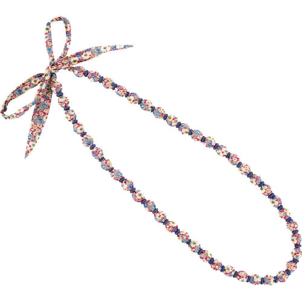 Collier sautoir perles oeillets jean