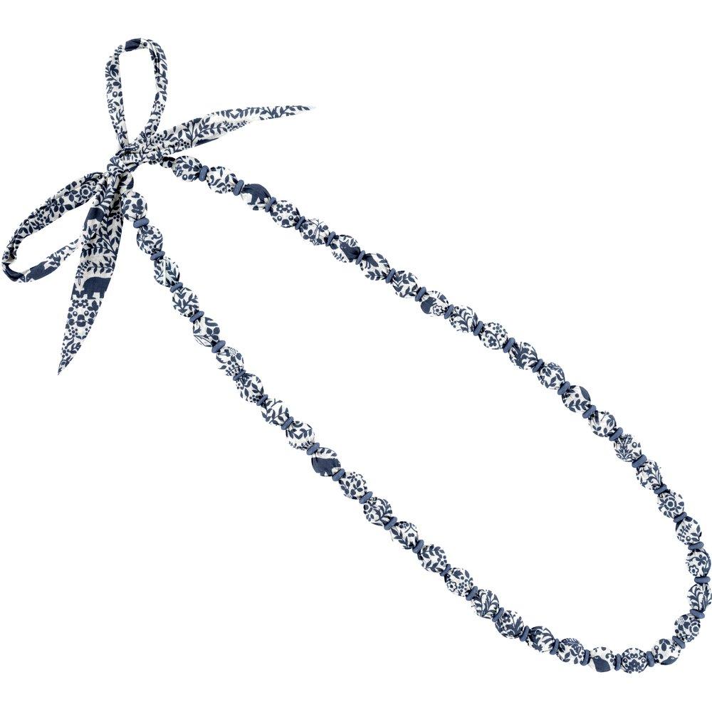 Collier sautoir perles scandinave marine