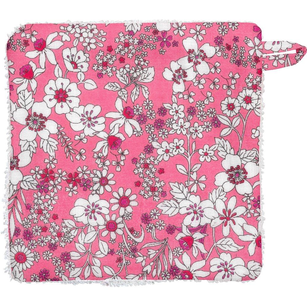 Carré Démaquillant Lavable violette rose