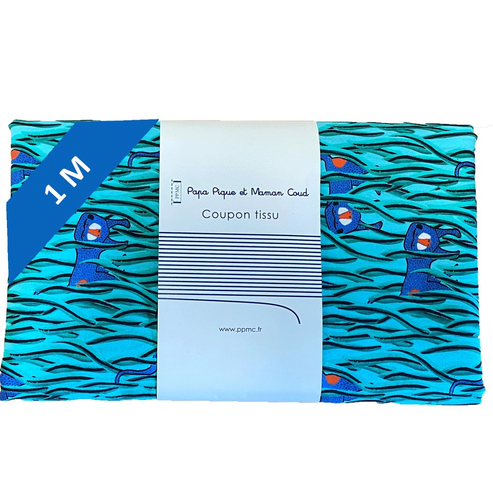 1 m fabric coupon cache-cache babouin