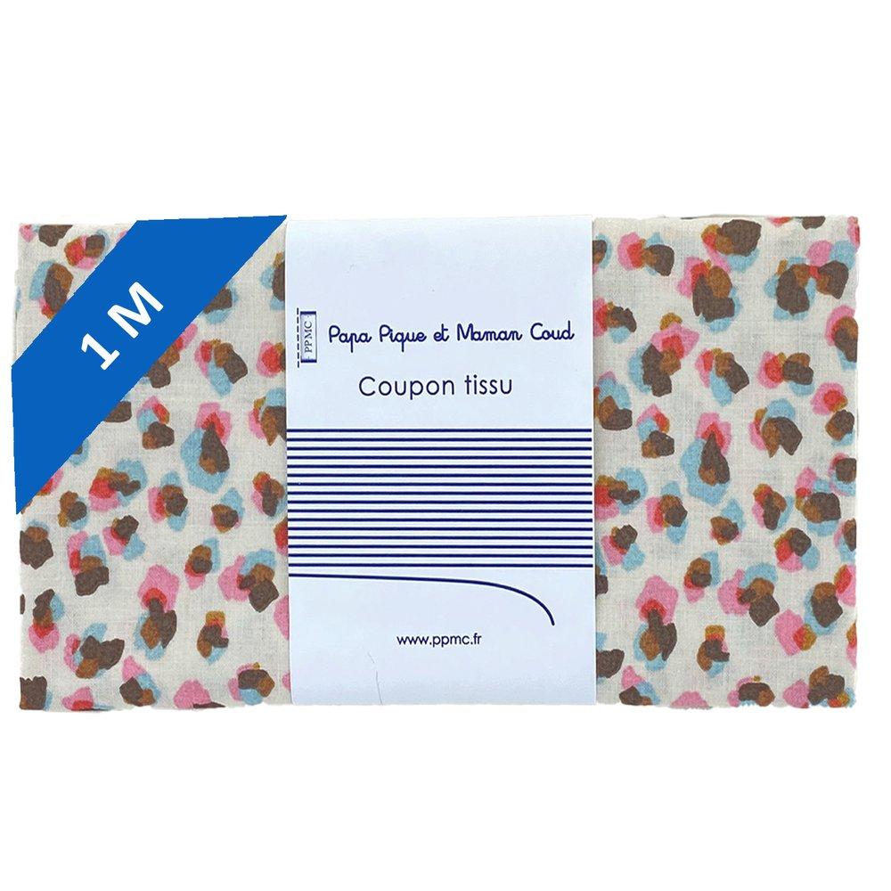 1 m fabric coupon confetti aqua