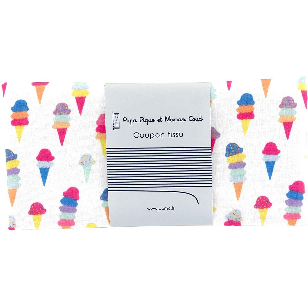 Coupon tissu 50 cm ice cream