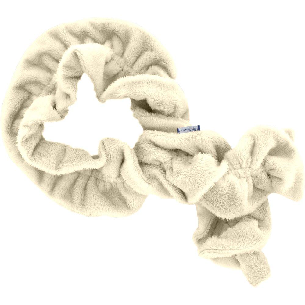 Twisted fleece scarf beige