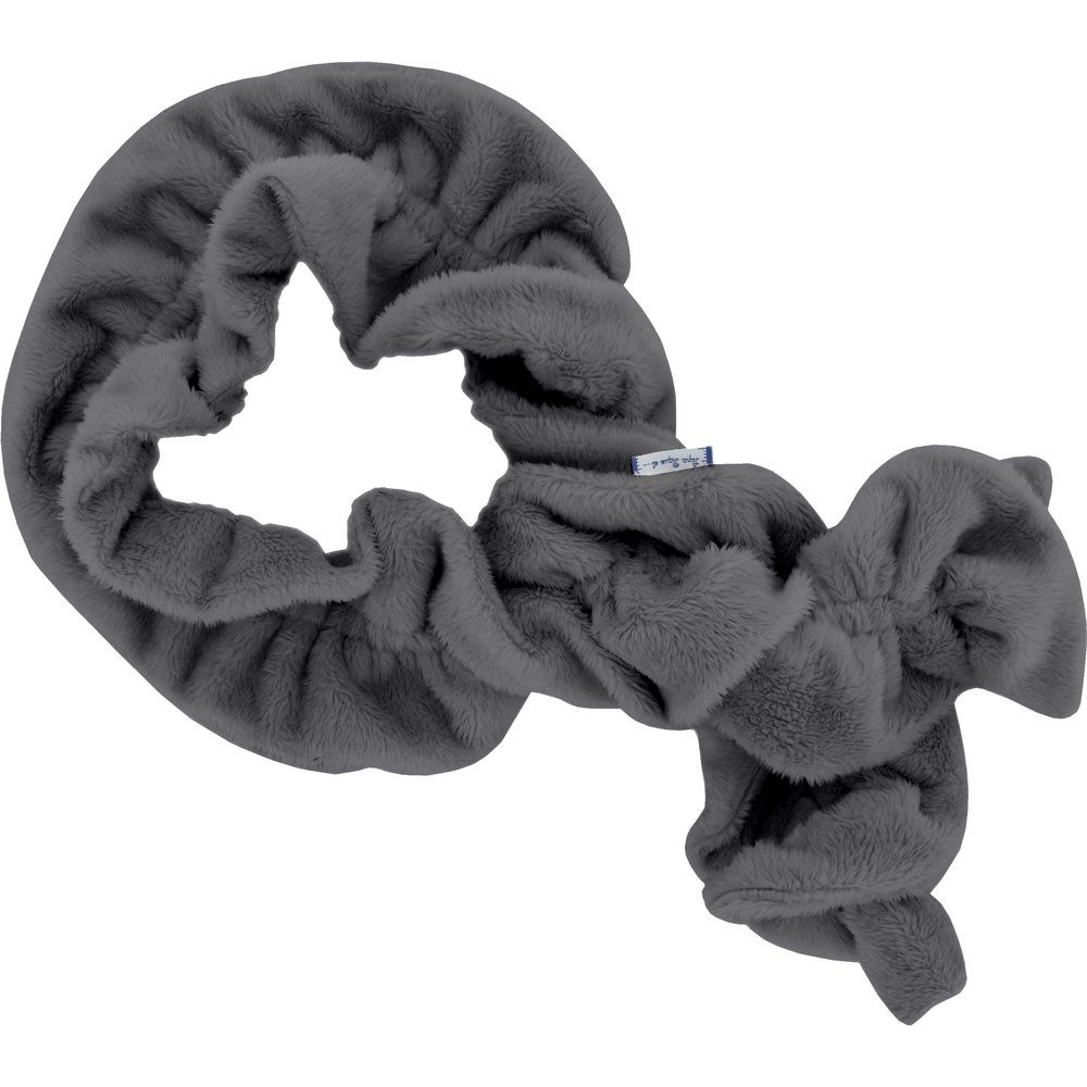 Twisted fleece scarf grey