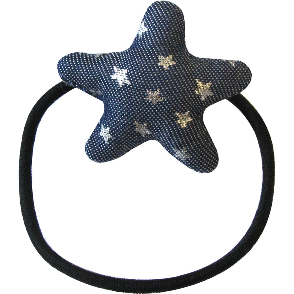 Pony-tail elastic hair star etoile argent jean
