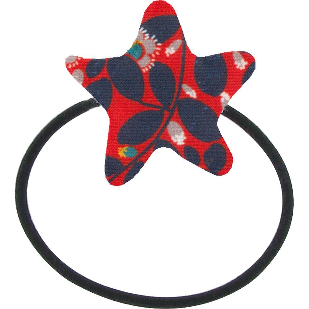Elastique cheveux étoile feuillage vermillon