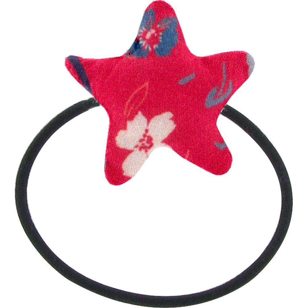Pony-tail elastic hair star hanami