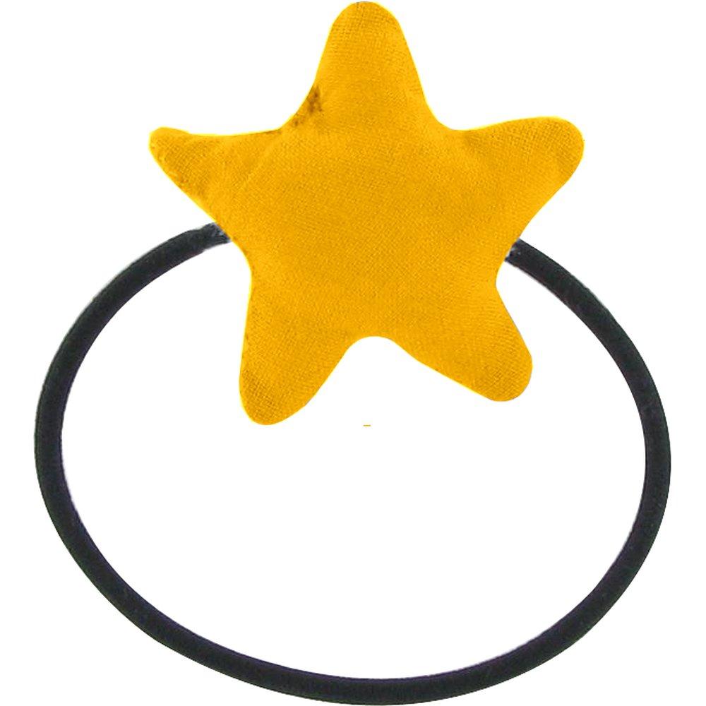 Estrella elástica para el pelo amarillo ocre