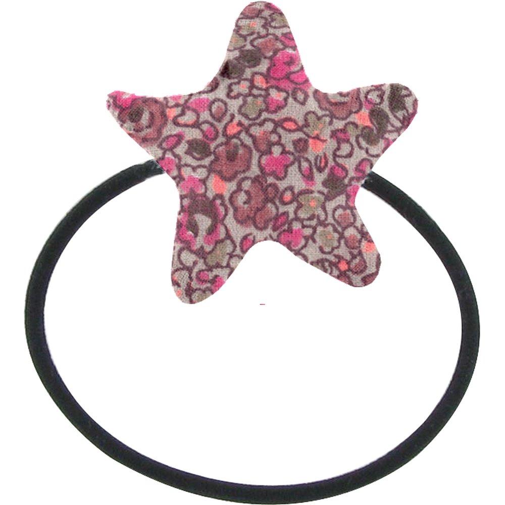 Elastique cheveux étoile lichen prune rose