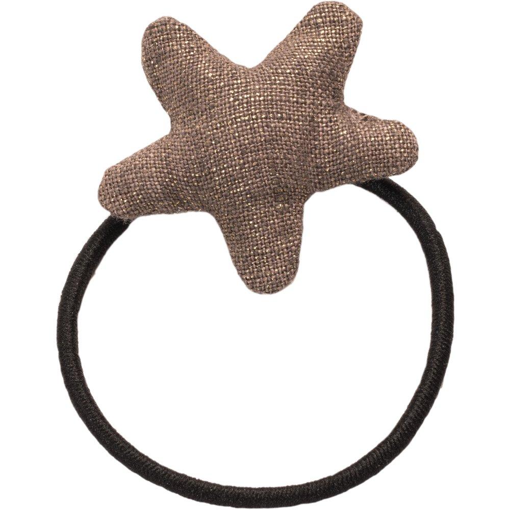 Pony-tail elastic hair star copper linen